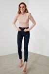 Lacivert Yüksek Bel Skinny Jeans TWOAW21JE0794