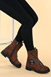 Kadın 913 Cilt Termo Taban Fermuarlı Bot Ayakkabı