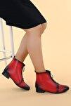 Kadın Cilt Fermuarlı Bot Ayakkabı 8284-2003