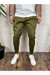 Erkek Haki Renk Spor Pantolon