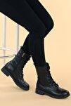 Kadın Siyah Cilt Termo Taban Bot C901-01