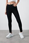 Yüksek Bel Skinny Pamuklu Jeans Kadın Kot Pantolon 20k0161b1