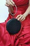 Kadın Siyah Simli Zincir Askılı Abiye Portföy Çanta