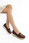 Kadın Kahverengi Günlük Ortopedik Anne Ayakkabısı