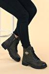 Ymr 224 Cilt Termo Taban Kadın Fermuarlı Bot Ayakkabı