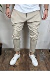 Erkek Krem Spor Şalvar Pantolon