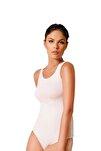Kadın Beyaz 6 Adet Kalın Askılı Cıtcıtlı Zıbın