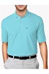 Erkek Turkuaz Modern Fit Polo Yaka T-shirt