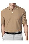Erkek Vizon Modern Fit Polo Yaka T-shirt