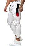 Beyaz Yanı Garnili Fit Kesim Eşofman Altı 1KXE4-44295-01