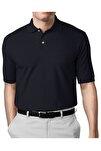 Erkek Lacivert Modern Fit Polo Yaka T-shirt