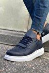 Erkek Lacivert Sneaker Ayakkabı Ch073
