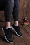 Kadın Siyah Sneaker Spor Ayakkabbı