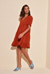 Kiremit Geniş Kesim Elbise TWOSS20EL0400