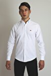Erkek Beyaz Slim Fit Gömlek