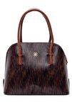 Kadın Kahverengi Kroko Desenli Klasik Kol Çantası