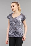 Likralı Pamuklu Kadın T-Shirt ES-3571