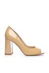 Hakiki Deri Sarı Kadın Kalın Topuklu Ayakkabı 613 23532 BN AYK