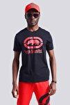 Siyah Erkek Baskılı Bisiklet Yaka T-Shirt LOGO TEE