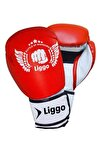 Unisex Çocuk Kırmızı Boks Eldiveni Kick Boks Muay Thai Eldiveni Liggo Force