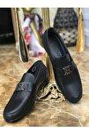 Erkek Siyah Hakiki Deri Ayakkabı