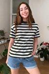 Yeşil Dik Yaka Basic Örme T-Shirt TWOAW20TS0096