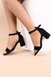 Siyah Lazer Kadın Topuklu Ayakkabı 2013-05-1604