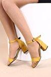 Hardal Süet Kadın Topuklu Ayakkabı 2013-05-1604