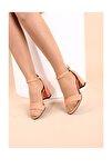 Fuşya Lazerli Kadın Topuklu Ayakkabı 2013-05-1604