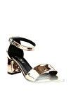 Bakır Ayna Kadın Topuklu Ayakkabı 2013-05-1604
