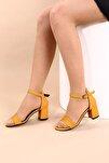 Hardal Lazerli Kadın Topuklu Ayakkabı 2013-05-1604