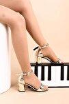 Altın Ayna Kadın Topuklu Ayakkabı 2013-05-1604