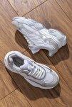 Kadın Spor Ayakkabı Beyaz Gri Tb246