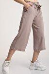Kadın Taş Bel Lastikli Bağlamalı Kısa Pantolon Mdt5979