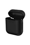 Siyah Apple Airpods Standart Silikon Kılıf