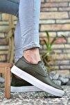 Baskılı Haki Erkek Sneaker 0012365