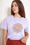 Kadın Spiritual Baskılı T-shirt