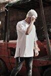 Erkek  Beyaz Fermuar Detaylı T-shirt 1kxe1-44339-01