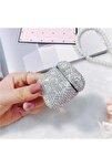 Gümüş Taşlı Apple Airpods Kılıfı