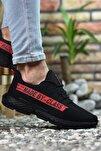 Siyah Kırmızı Erkek Sneaker