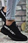 Erkek Siyah Beyaz  Sneaker 0012santo