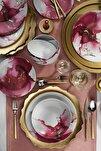 24 Parça Altın Varaklı Dekoratif Yemek Takımı