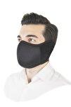 Erkek Siyah Yıkanabilir Kış Maskesi