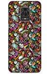 Graffitix (10) Desenli Silikon Kapak Xiaomi Redmi Note 9 Pro Kılıf