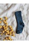 Petrol Rengi Dizaltı Bebek Çorabı