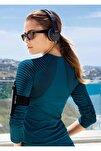 Kadın Petrol Uzun Kollu Sporcu T-shırt