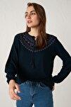 Kadın Lacivert Bluz 0WHK34Z8