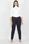 Kadın Lacivert Fermuar Detaylı Pantolon 65N20932