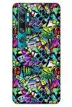 Graffitix (1) Desenli Silikon Kapak Xiaomi Mi Note 10 Kılıf