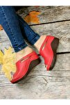 Kadın Kırmızı Topuklu Ortopedik Günlük Terlik